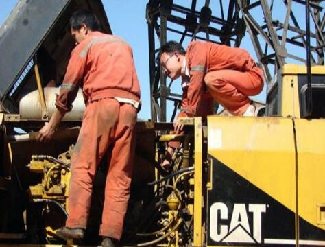 Repair method of kwasaki brand excavator